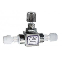 Cole-Parmer - EW-06393-68 - PTFE Multi-Turn Needle Valve, 1/4' Tube OD, Al Body, 2800 mL/min water