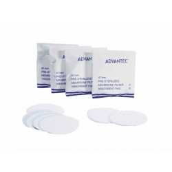 Advantec MFS - A080G047A - Advantec A080G047A Sterile MCE Filters, 0.80um, 47mm Dia; 100/Pk