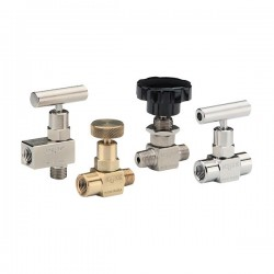 NOSHOK - 101MFAB - NOSHOK 101MFAB Hard Seat Mini Needle Valve 1/8, 90 deg Angle, Male-Female, Brass