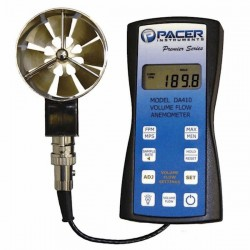 Miltronics - 10200+10216 - Pacer DA410 Precision Vane Anemometer with 2.75 Vane, Volume Calculation, and USB Output