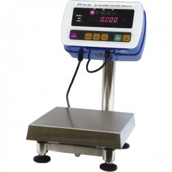 AND Weighing - SW-150KM - A&D Weighing SW-150KM Washdown Industrial Scale, SS Hi-Pressure, 330lb/150kg, NSF; 11.75