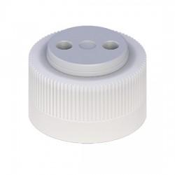 Cole-Parmer - EW-12018-30 - VapLock Solvent Delivery Cap with EPDM Air Inlet Valve, two 1/4-28 ports, 38-430; 1/ea