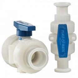 Other - EW-30532-01 - Sanitary Plastic Ball Valve, 2-Way, 3/4' Mini Tri-Clamp, Polypropylene Body, EPDM Seals