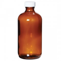 Cole-Parmer - EW-35204-62 - APC1449 Boston Round Preserved Amber Glass Bottles, 250 mL, 0.5 mL 1:1 H2SO4; 12/Cs