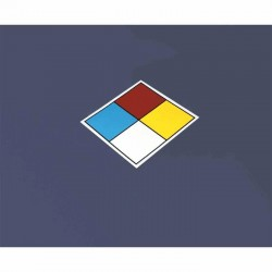 Accuform Signs - MBLEV10 - Accuform Signs 10' X 10' White, Blue, Red And Yellow Pressure Sensitive Vinyl NEPA Blank Placard, ( Each )