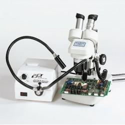 Cole-Parmer - EW-41723-30 - Microscopy Fiber Optic Illuminator w/Dual Gooseneck; 115 VAC
