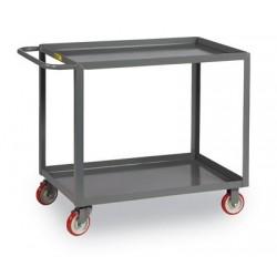 Brennan - LG-1832-BRK - Brennan LG-1832-BRK Welded service cart -2 shelf, flat, 18 x 32