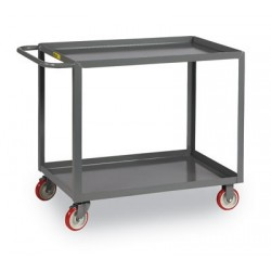 Brennan - LG-2436-BRK - Cart Flush 2 Shelf 35x24x36 1000 Pound Polyurethane Wheel Little Giant Steel, Ea