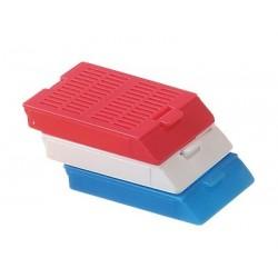 Bio Plas - 6060 - Histo Plas Uni-Capsette, with detachable plastic lids, red, 500 per box, by Bio Plas