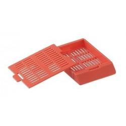 Bio Plas - 6062 - Histo Plas Uni-Capsette, with detachable plastic lids, lime, 500 per box, by Bio Plas