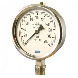 Wika Instruments - 4285507 - Wika 4285507 Pressure Gauge 0 to 160 psi; 4 dial with 1/2 NPT(M) Connection