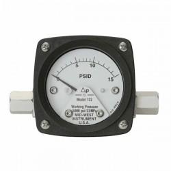 Mid-West Instrument - 122-AA-00-OO-5P - Mid-West Instrument 122-AA-00-OO-5P Piston Type 2.5 Differential Pressure Gauge, 5 psi, Al