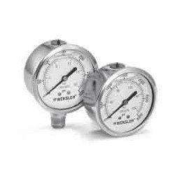 Weksler - BY12YPD4LW - Weksler BY2.5 2.5' Filled Pressure Gauge, 0 to 30 psi, Lower Mount
