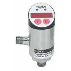 NOSHOK - 800-2-2-3750-2 - Pressure Indicator, 800 Series, 3750 psi, 1 NO or 1 NC, NPN or PNP, 4 to 20 mA Output, M12 Connector