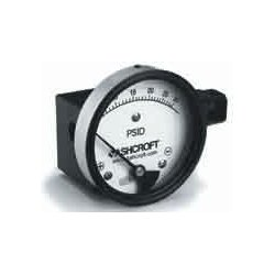 Ashcroft - 25-1130-FD-25S-5# - Ashcroft 11302.5 2.5 Differential Pressure Gauge 0 to 5 psid, In-Line