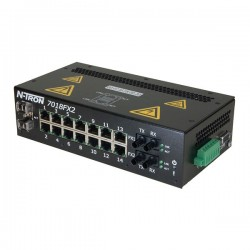 Advantech - 7018FX2-ST - N-Tron 7018FX2-ST 18-Port Managed Ethernet Switch, Multi ST, 2 km
