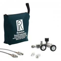 Ralston Instruments - QSCM-2MSA-20-2 - Ralston Instruments QSCM-2MSA-20-2 Calibration Manifold; 1/4 NPTM/SS