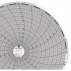 Dickson - 20740017 - Dickson 20740017 Chart Paper for 8 Circular Recorders; 24 hour, -50 to 50 F / C, 60/pk