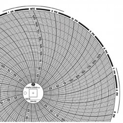 Dickson - 00166207 - Dickson 00166207 Chart Paper for 8 Circular Recorders; 24 hour, 0 to 250F/C, 60/pk