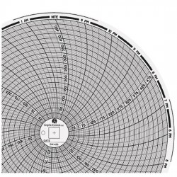 Dickson - 00808956 - Dickson 00808956 Chart Paper for 8 Circular Recorders; 24 hour, 0 to 500F/C, 60/pk