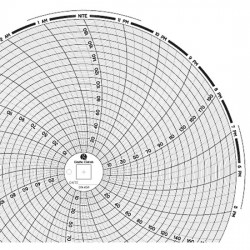 Dickson - 00166249 - Dickson 00166249 Chart Paper for 8 Circular Recorders; 24 hour, 0 to 200, 60 sheets/pk