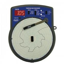 Supco - CR87B - Supco CR87B 6 Circular Type J Thermocouple Recorder; -40 to 120F, 110 VAC