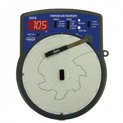 Supco - CR87BC - Supco CR87BC 6 Circular Type J Thermocouple Recorder; -40 to 50C, 110 VAC