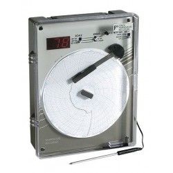 Supco - CR87HTC - Supco CR87HTC 6 High-Temperature Chart Recorder, Type J, 0-500 C; 110VAC