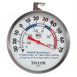 Taylor Precision - 5994 - Taylor 5994 Series Refrigerator / Freezer Analog Dial Thermometer with HACCP Guidelines