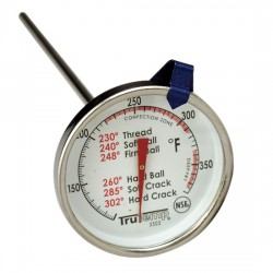 Taylor Precision - 3505 - Taylor 3505 TruTemp Series Candy / Deep Fry Analog Dial Thermometer with 6 Stem