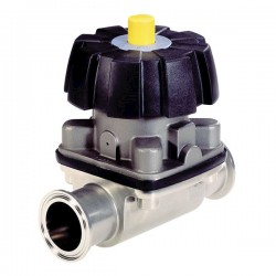 Burkert Fluid Control Systems - 445843 - Burkert 445843 3233 316LSS 2-Way Diaphragm Valve, PTFE; 1Tri-Clamp, 150psi