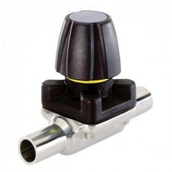 Burkert Fluid Control Systems - 445618 - Burkert 445618 3233 316LSS 2-Way Diaphragm Valve, PTFE; 1 Weld-End, 150psi