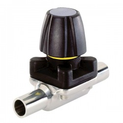 Burkert Fluid Control Systems - 445628 - Burkert 445628 3233 316LSS 2-Way Diaphragm Valve, PTFE; 2 Weld-End, 150psi