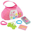 Fisher-Price - CGV27 - Laugh & Learn Sis' Smart Stages Purse - Skill Learning: Songs, Word, Number, Language, Shape, Color, Thinking, Eye-hand Coordination, Motor Skills