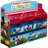Delta Children - TB84983MM - Delta Children Mickey Mouse Deluxe Book & Toy Organizer - Toy Storage - Kids Room - Adds Character to Any Room - Room Decor