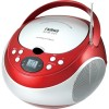 Naxa - NPB251R - Naxa Portable CD Player with AM/FM Stereo Radio - 1 x Disc Integrated Stereo Speaker - Red LED - 19 Programable Tracks - CD-DA - Auxiliary Input