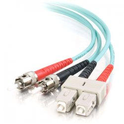C2G (Cables To Go) - 36113 - C2G-3m SC-ST 10Gb 50/125 OM3 Duplex Multimode PVC Fiber Optic Cable - Aqua - Fiber Optic for Network Device - SC Male - ST Male - 10Gb - 50/125 - Duplex Multimode - OM3 - 10GBase-SR, 10GBase-LRM - 3m - Aqua""