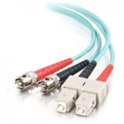 C2G (Cables To Go) - 36113 - 3m SC-ST 10Gb 50/125 OM3 Duplex Multimode PVC Fiber Optic Cable - Aqua - Fiber Optic for Network Device - SC Male - ST Male - 10Gb - 50/125 - Duplex Multimode - OM3 - 10GBase-SR, 10GBase-LRM - 3m - Aqua