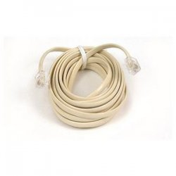 Belkin / Linksys - F8V100-25-IV - Belkin Pro Series Phone Cable - RJ-11 Male - RJ-11 Male - 25ft - Ivory