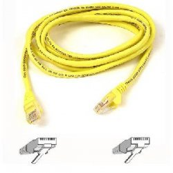 Belkin / Linksys - A3L791-01-YLW - Belkin - Patch cable - RJ-45 (M) to RJ-45 (M) - 1 ft - UTP - CAT 5e - yellow - for Omniview SMB 1x16, SMB 1x8, OmniView IP 5000HQ, OmniView SMB CAT5 KVM Switch