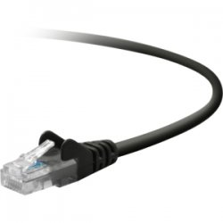Belkin / Linksys - TAA791-07-BLK-S - Belkin - Patch cable - RJ-45 (M) to RJ-45 (M) - 7 ft - UTP - CAT 5e - molded, snagless, stranded - black