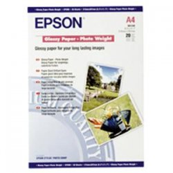 "Epson - S041408 - Epson Photo Paper - A4 - 8.30"" x 32.80 ft - 240 g/m² Grammage - Luster - 97 Brightness - 1 / Roll - White"