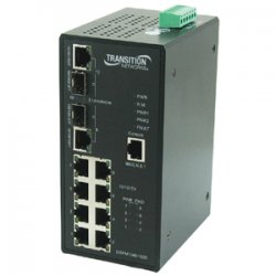 Transition Networks - SISPM1040-182D-LRT - Transition Networks Industrial Managed Ethernet Switch with PoE - 2 x SFP - 8 x 10/100Base-TX, 2 x 10/100/1000Base-T