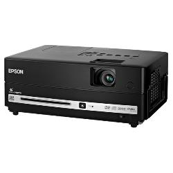 Epson - V11H412020 - Epson MovieMate LCD LCD Projector - 720p - HDTV - 16:10 - 1.58 - UHE - 200 W - NTSC, PAL, SECAM - 5000 Hour Normal Mode - 1280 x 800 - WXGA - 3,000:1 - 2500 lm - HDMI - USB - VGA In - Built-in - DVD Player - 2 Year Warranty