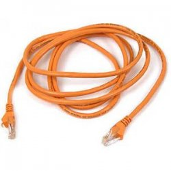 Belkin / Linksys - A3L980-04-ORG-S - Belkin High Performance - Patch cable - RJ-45 (M) to RJ-45 (M) - 4 ft - UTP - CAT 6 - molded, snagless - orange - for Omniview SMB 1x16, SMB 1x8, OmniView SMB CAT5 KVM Switch