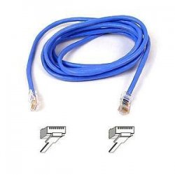 Belkin / Linksys - A3L791-10-BLU - Belkin Cat. 5E UTP Patch Cable - RJ-45 Male - RJ-45 Male - 10ft - Blue