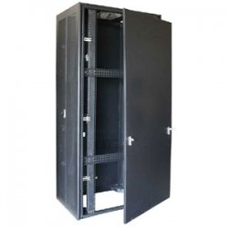 "StarTech - RK4242BK - StarTech.com 42U Rack Enclosure Server Cabinet - 36.6 in. Deep - Split Rear Door - 18.30"" 42U Wide x 34"" Deep Floor Standing for Server, LAN Switch, A/V Equipment - Black - Steel, Mesh - 2210 lb x Maximum Weight Capacity"