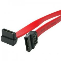 StarTech - SATA24RA1 - StarTech.com 24in SATA to Right Angle SATA Serial ATA Cable - Female SATA - Female SATA - 24 - Red