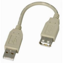 StarTech - USBEXTAA6IN - StarTech.com 6in USB 2.0 Extension Adapter Cable A to A - M/F - Type A Male USB - Type A Female USB - 6 - Gray