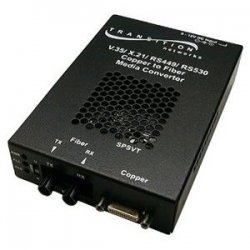 Transition Networks - SPSVT2613-100-NA - Transition Networks Copper To Fiber Media Converter - 1 x DB-26 Serial, 1 x SC Duplex